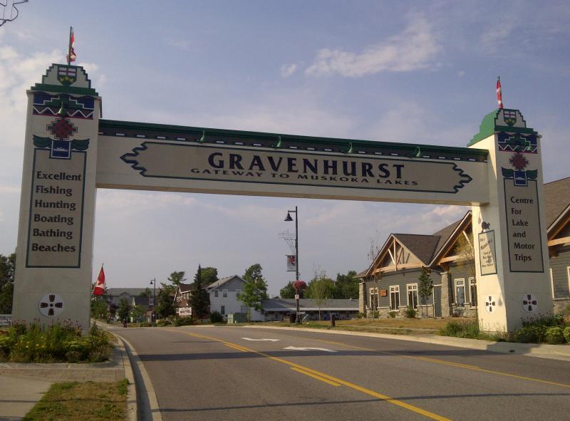 Gravenhurst ON Welcome Sign